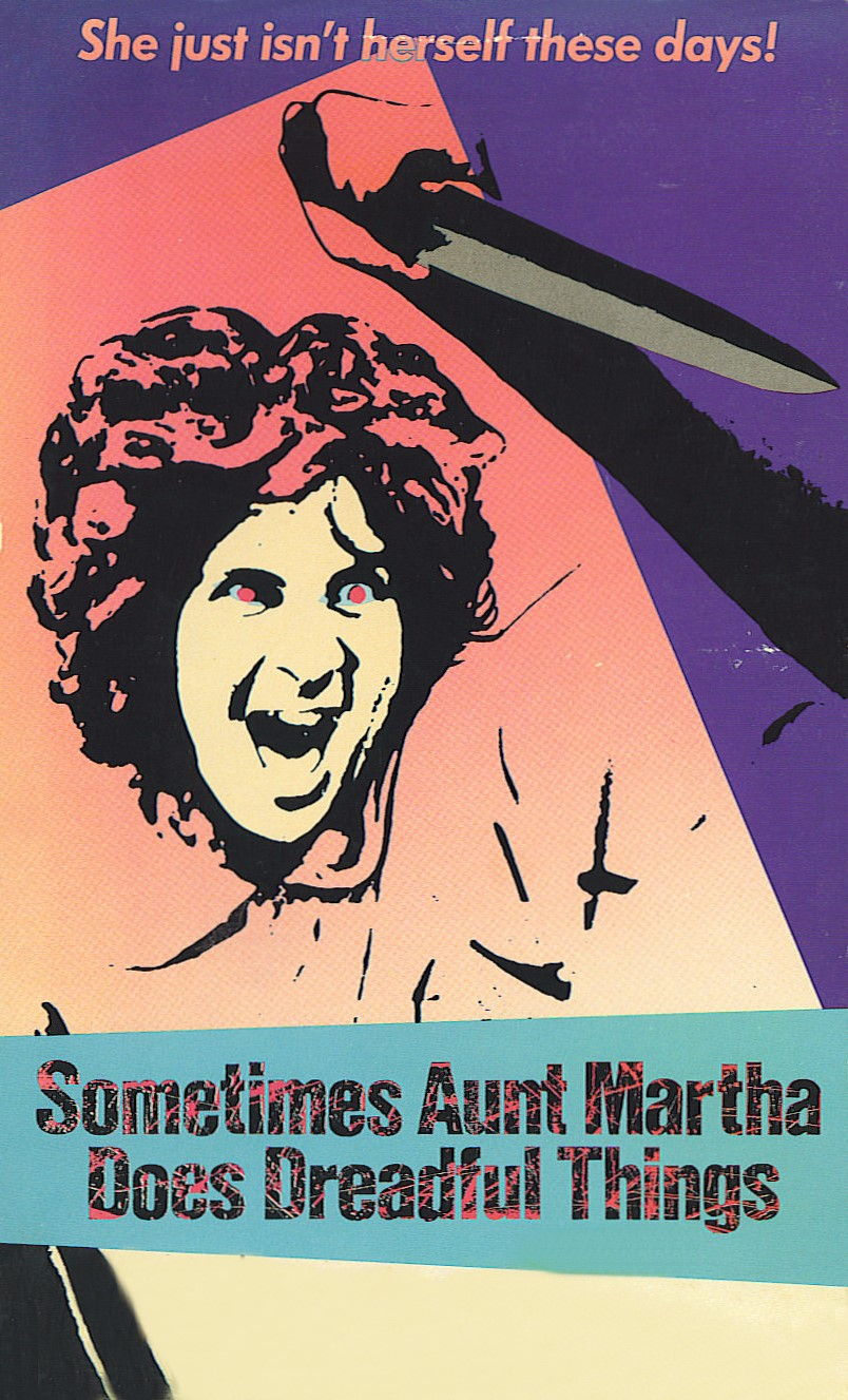 SOMETIME AUNT MARTHA DOES DREADFUL THINGS Movie Poster Horror RARE