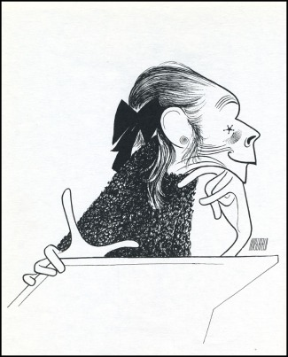 Al Hirschfield's drawing of actress Ruth Gordon