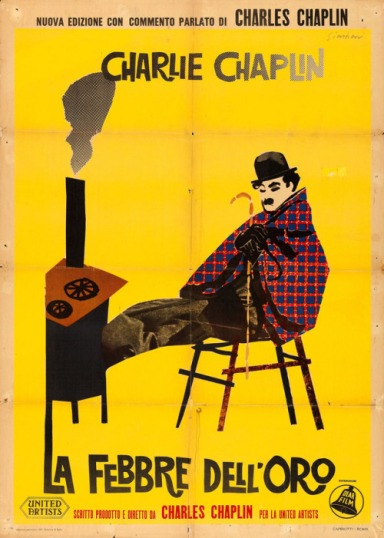 1957 re-release Italian 2-fogli for THE GOLD RUSH (Charles Chaplin, USA, 1925)