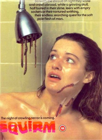 SQUIRM, UK VHS cover