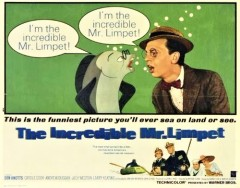 Incredible Mr. Limpet original print ad